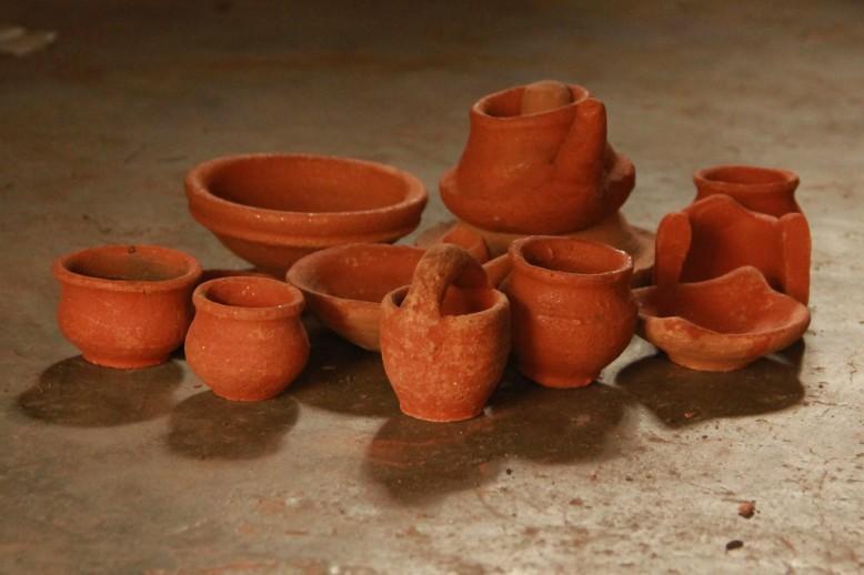 Ekibeki clay kitchen set